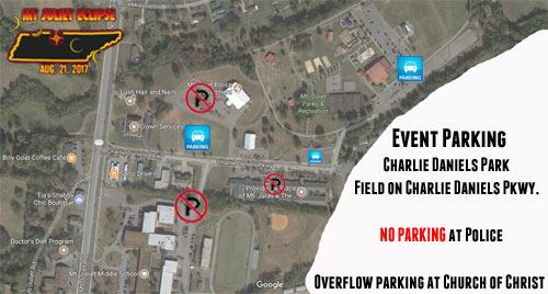 Eclipse Parking Map